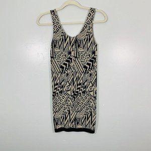 Vintage Y2K Guess Black Cheetah Geometric Dress